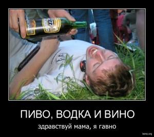 пиво водка и вино