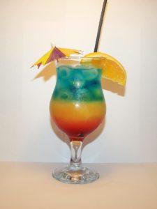как приготовить безалкогольный фруктовый коктейль радуга